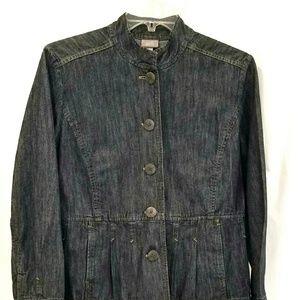 J. Jill pleated jean jacket petite